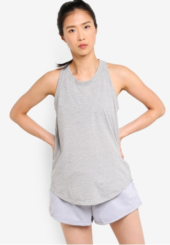 Cotton On Body grey Workout Tank Top D6484AA30CAE42GS_1