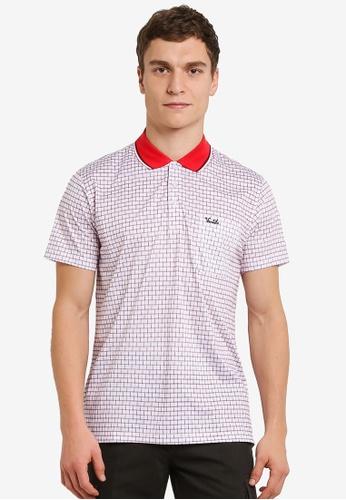 BGM POLO red Printed Polo Shirt BG646AA0S0KWMY_1
