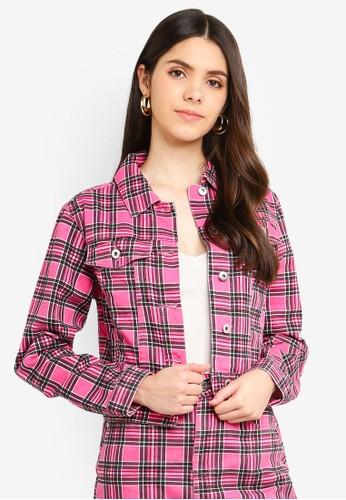 Factorie pink Co-Ord Denim Jacket 30E14AA4A817DAGS_1
