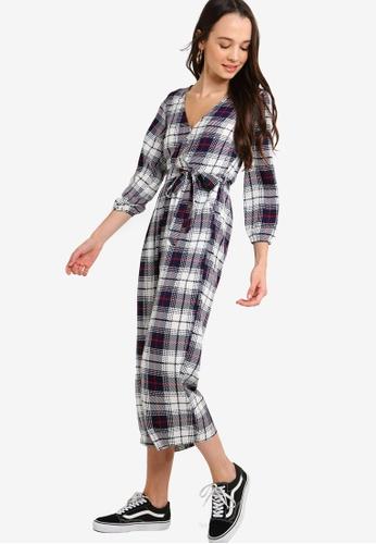 b8654dc4e504 Buy Something Borrowed Long Sleeves Wrap Jumpsuit Online on ZALORA Singapore