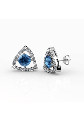 Her Jewellery blue and silver Her Jewellery Tri-Styled Earrings (Blue) with Premium Grade Crystals from Austria 68CFCAC60DE574GS_1