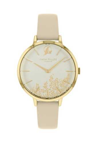 Sara Miller beige and gold Sara Miller - Leaf 34mm - Gold/Beige Strap (SA2028) A7169AC9E74A41GS_1