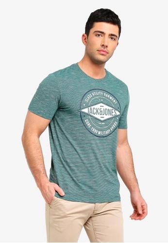 Jack & Jones 綠色 Fresco T恤 F5067AA9252C3DGS_1