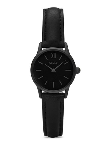 La Vedette CL50015 極簡esprit 中文真皮帶圓錶, 錶類, 飾品配件