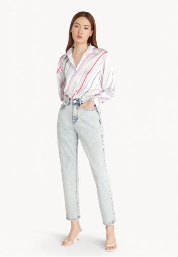 Pomelo white Multi Color Stripe Shirt - White E9DE8AABDF214BGS_1