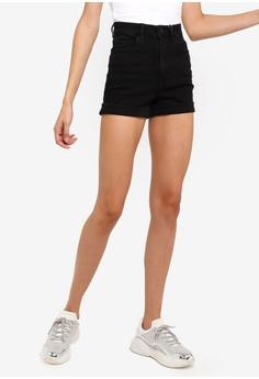 aa99118e1d8 Supre black The Sky High Cuffed Shorts 4EA5FAA3198F4BGS_1