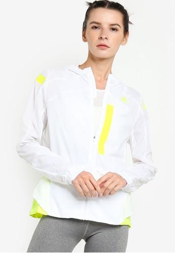ADIDAS white marathon translucent jacket D0444AA5CAB540GS_1