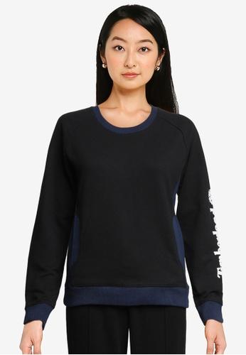 Timberland black Sleeve Linear Logo Sweatshirt 3C73BAA937B884GS_1