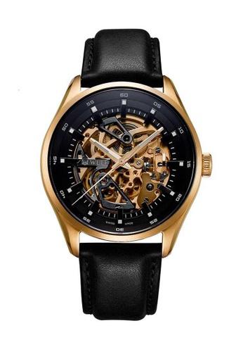 Wulf black Wulf Exo Gold and Black Skeleton Watch 6F1FAAC9282A68GS_1