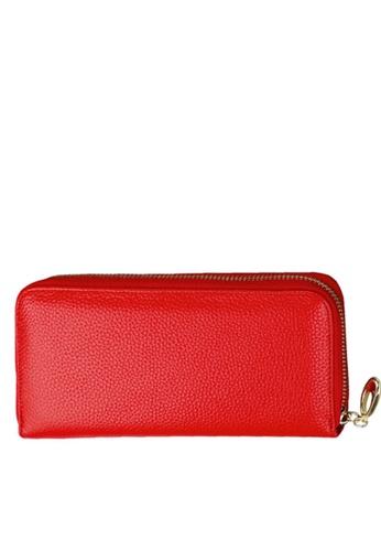 Twenty Eight Shoes red VANSA Top Layer Cowhide Bi-Fold Long Wallet VBW-Wt906 C07E1AC0DFBA89GS_1