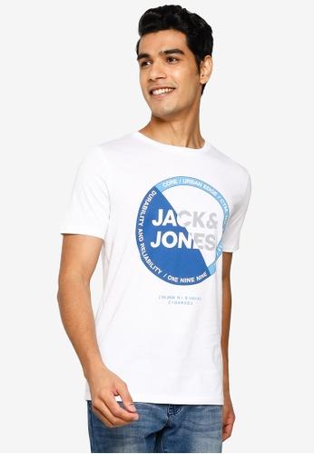 Jack & Jones white Lambo Short Sleeve T-Shirt 2DDCAAAD52EBE1GS_1