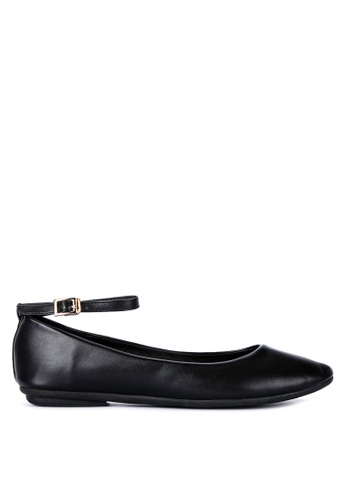 ABOUT A GIRL black Ballerina Flats With Ankle Strap B2B7BSH7BCD13BGS_1