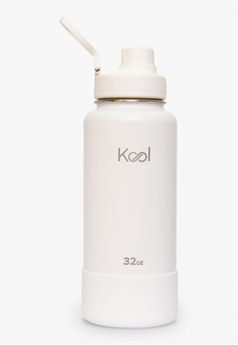 Kool PH white 32 oz Insulated Stainless Steel Water Bottle With Silicone Boot 84CEDACF2E529EGS_1