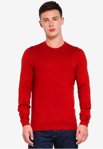 OVS 褐色 Round Neck Knitwear Tricot Jumper C591EAADE58692GS_1