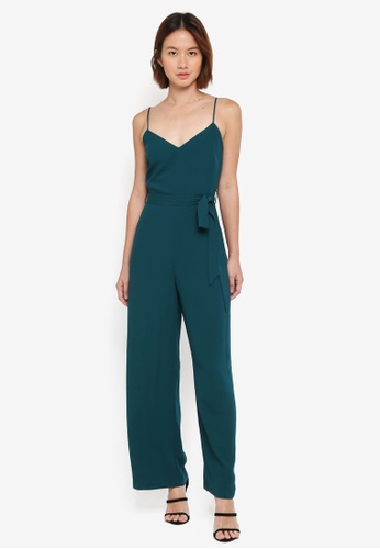 Dorothy Perkins green Strappy Jumpsuit 13F9FAAC79ED09GS_1