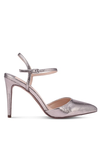 Dorothy Perkins silver Pewter Ena Two Part Court Heels DO816SH0S4T8MY_1