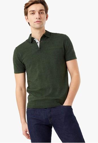 MARKS & SPENCER green Cotton Rich Short Sleeve Knitted Polo Shirt 7812DAA683EC57GS_1
