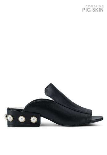 Kenneth Cole 黑色 Kcny Farley Pearl Heel Sandals 468F4SH8B0F6C2GS_1