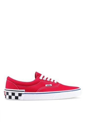 VANS red Era Check Block Sneakers DEC15SHA3707A0GS_1