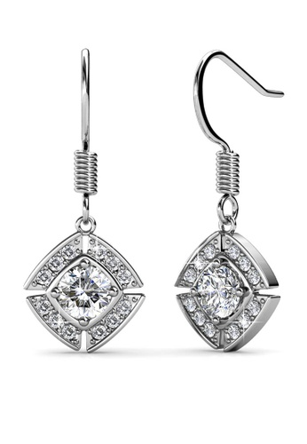 Her Jewellery silver Windmill Earrings (White Gold) - Made with premium grade crystals from Austria 2800DAC5C414DAGS_1