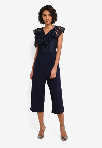 bYSI navy Lace Tailored Jumpsuit BY867AA0S3KPMY_1
