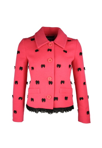 Moschino pink Boutique Moschino Bow Detail Jacket in Fuchsia F2F70AA0E769A9GS_1