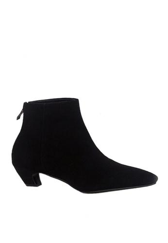 Twenty Eight Shoes 黑色 彎形跟尖頭短靴 VB6662 7860ESH4426D5AGS_1