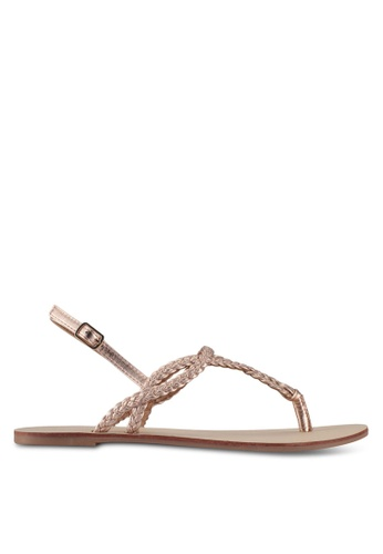 ONLY pink ONLY ONE Margit Braided Sandals C375ASH41CC7ACGS_1