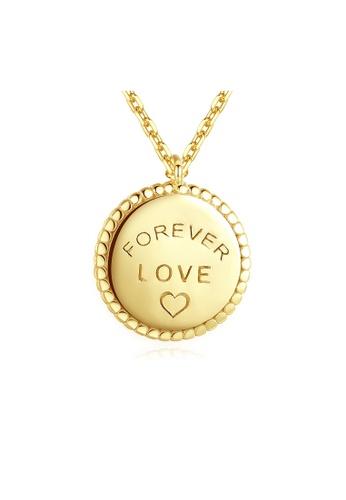 SUNRAIS gold Premium Silver S925 Gold Letter Necklace FBB59AC24E2954GS_1