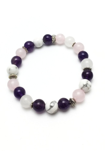 Memento Collection white and pink and purple Mix Detailed Bracelets ME060AC03UFCMY_1