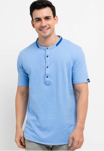 Lois Jeans blue Cotton Heringbone T-Shirt A0C82AADE6C5DEGS_1