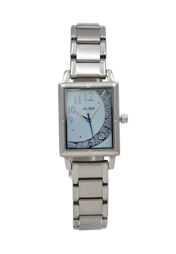 Alba silver ALBA Jam Tangan Wanita - Silver Blue - Stainless Steel - AXTZ69 AF531AC52DD2BBGS_1
