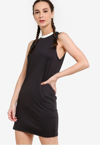 ZALORA ACTIVE black Contrast Collar Tennis Dress 43272AA6FFF706GS_1