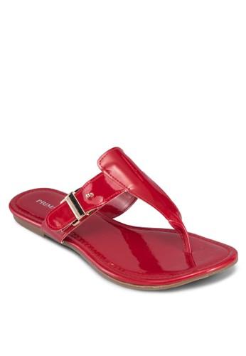 Harper 漆皮夾腳涼鞋, 女鞋, esprit童裝門市鞋