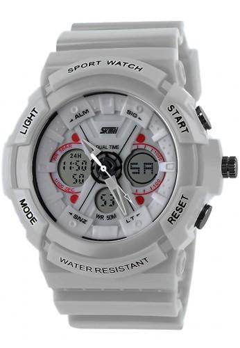 Digitec white Skmei - Jam Tangan Pria - White - 0966-B DI108AC26QGBID_1
