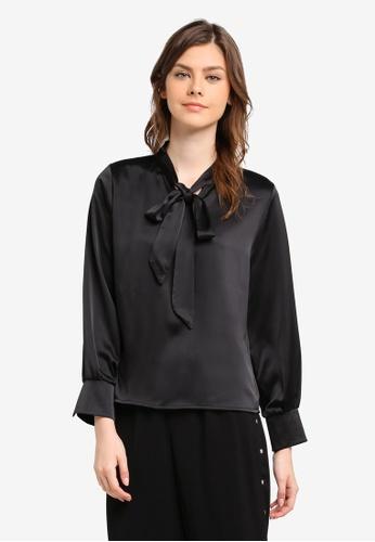 BYN black Long Sleeve Top BY059AA0SWLEMY_1