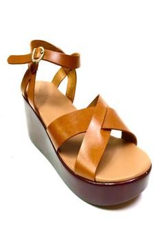 Drey Wedge Leather Sandals