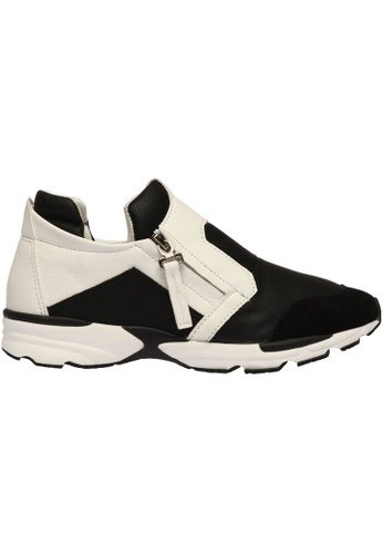 paperplanes black Paperplanes-1333 Fashion Casual Side Zipper Patchwork Tall Up Sneakers Shoes US Women Size PA355SH04PIPSG_1