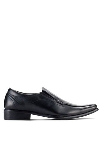 UniqTee black Hardware Detail Slip On Shoes UN097SH92NQHMY_1