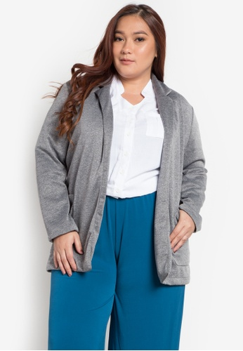 920bc0bbc69 Shop Maxine Plus Size Blazer Online on ZALORA Philippines