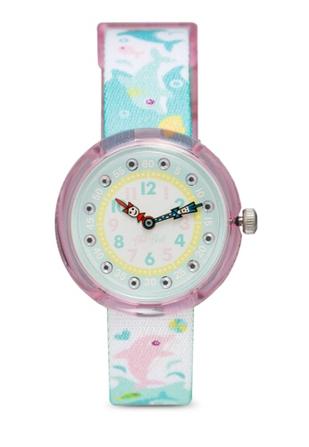 Flik Flak blue Splashy Dolphins Watch 0F6A1KCCF9F13DGS_1