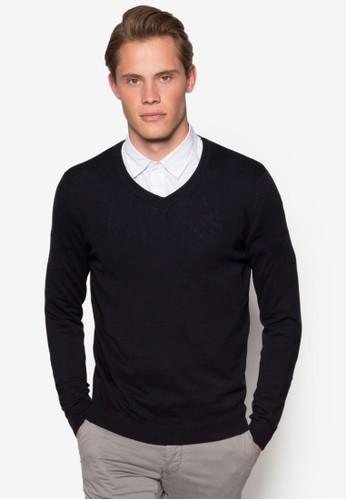 簡約V 領棉質長袖衫、 服飾、 服飾NewLook簡約V領棉質長袖衫最新折價