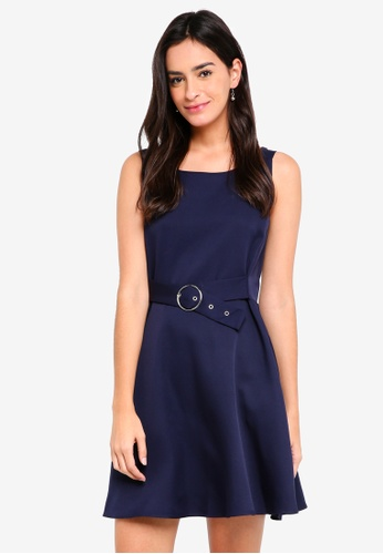 ZALORA navy Strappy Buckle Detail Dress 98D2EAA11A028CGS_1