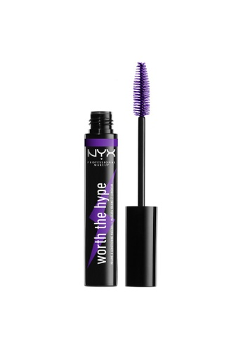 NYX Professional Makeup purple NYX Professional Makeup Worth The Hype Volumizing & Lengthening Colored Mascara - Purple 15628BE195B95BGS_1