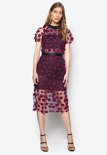 Lesley 高領蕾絲及膝洋裝、 服飾、 洋裝MeganeLesley高領蕾絲及膝洋裝最新折價