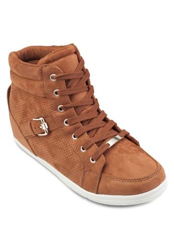 Gledien 麂皮高筒esprit 品牌運動鞋, 女鞋, 鞋