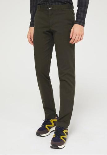 Sisley green Slim Fit Trousers 324BDAAFC74420GS_1