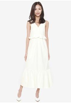6a7381f2943 Mint   Ooak Giselle Ruffles Hem Dress in White S  69.00. Sizes L XL