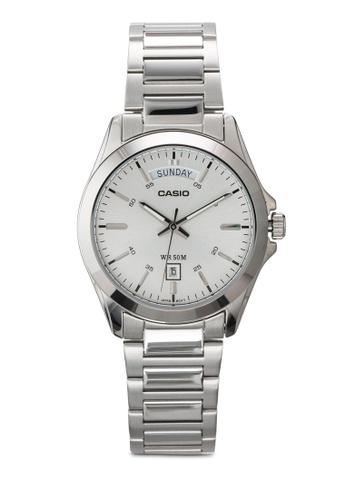Casio silver Stainless Steel Quartz Men's Watch CA843AC72JQLMY_1