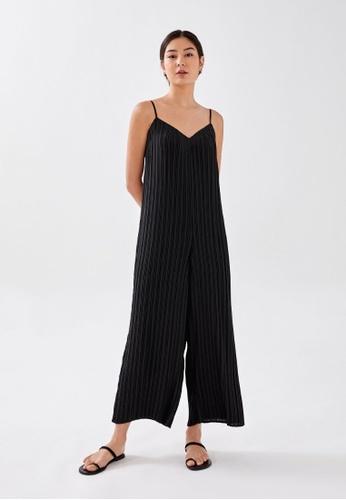 Love, Bonito black Sabine Pleated Wide Leg Jumpsuit 1F653AAFAD990BGS_1